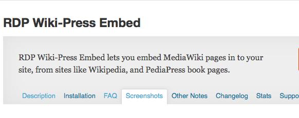 RDP Wikipress Embed